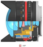 Samyang 8mm f/2,8 fisheye lens constructie