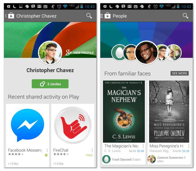 Play Store met People-sectie