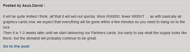 ASUS RX 6800-statement