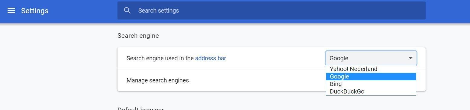 Google voegt DuckDuckGo als optie voor zoekmachine toe aan