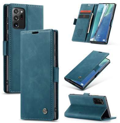 Caseme Samsung Galaxy Note 20 Ultra Retro Wallet Case - Blauw