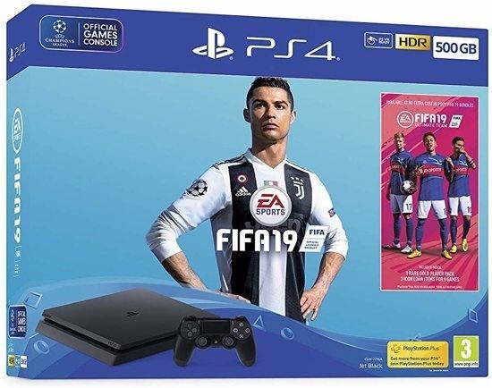 Sony PlayStation 4 500GB + FIFA 19 Zwart