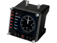 Logitech G Flight Instrument Panel Zwart