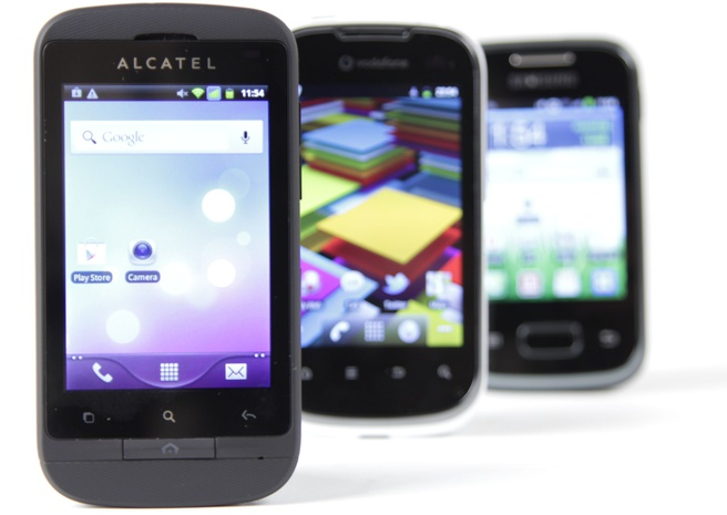 Alcatel OT-918D, Vodafone Smart II, Samsung Galaxy Pocket