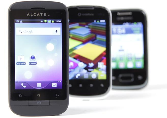 Alcatel OT-918D, Vodafone Smart II, Samsung Galaxy Pocket