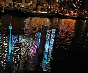 Stad in het water