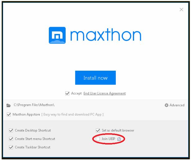 Maxthon UEIP