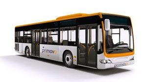 Bus met 'Primove technologie'