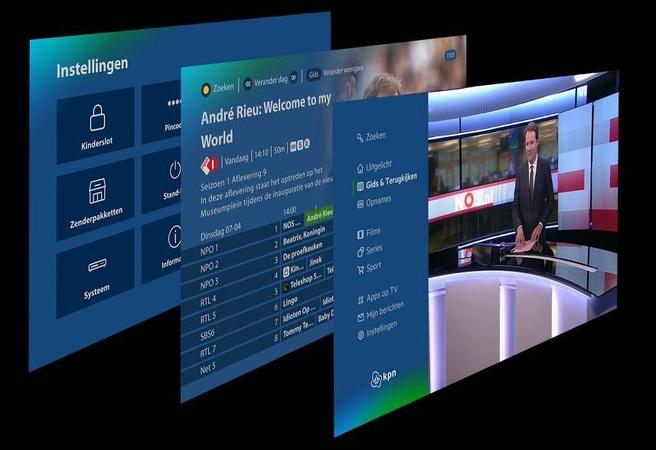 KPN tv-menu