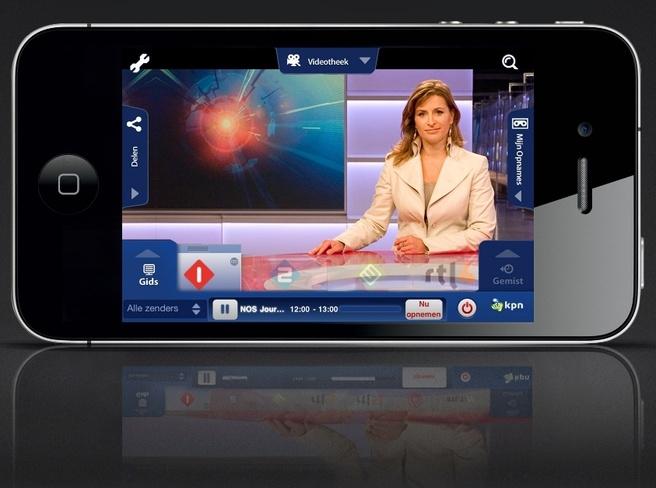 iTV Online-app van KPN op smartphone
