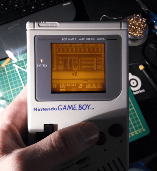 GameBoy DMG-01 Backlight + Bivert mod • Button Bashers