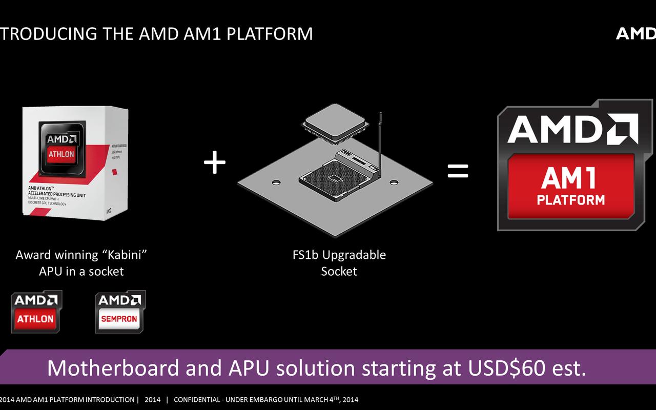 AMD AM1 Kabini slides