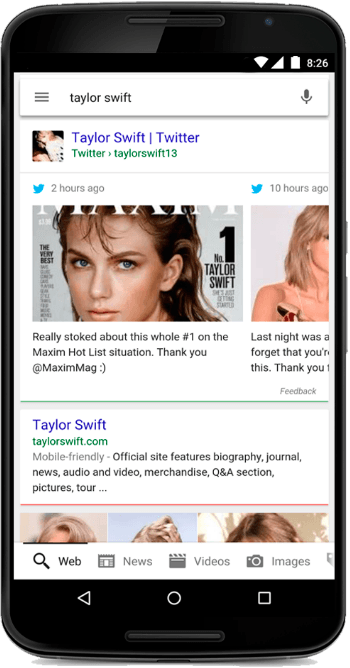Taylor Swift in Google