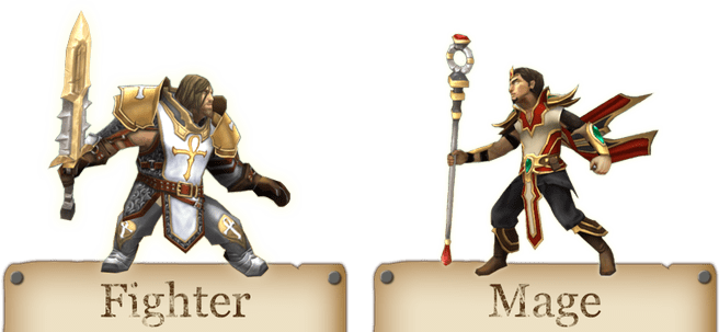 Fighter en Mage in Ultima Forever