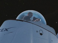 SpaceX glazen koepel ingezoomd