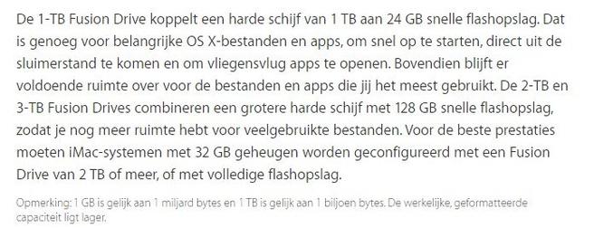 Apple 1TB fusion drive