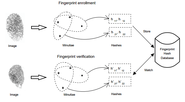 biometrie hashing