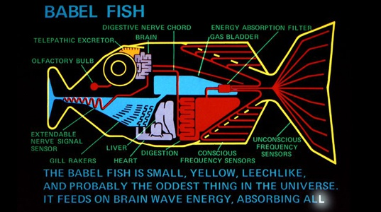 Babel Fish uit Hitchhiker's Guide to the Galaxy