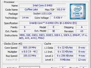 Cpu-z i5-8400