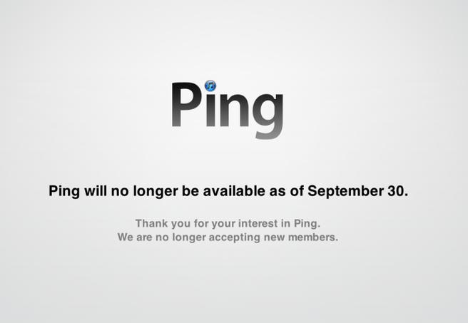 Ping afgesloten