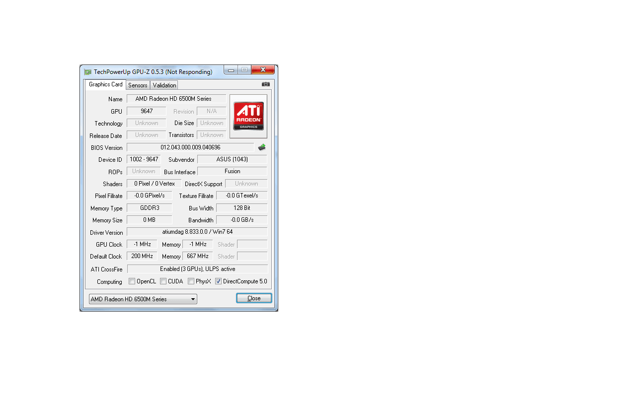 Asus-laptop met A6-3400M-apu