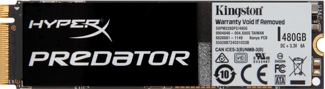 Kingston HyperX Predator SSD M.2 480GB