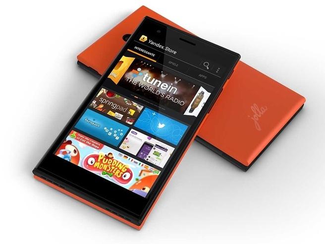 Sailfish-smartphone met Yandex.Store
