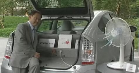 Toyota Prius stroomvoorziening externe apparatuur