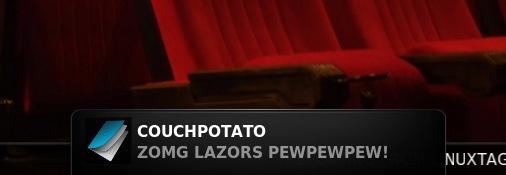 XBMC - Couch Potato Test Notification