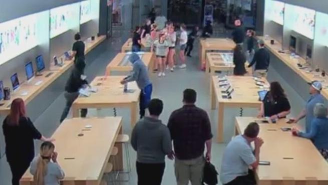 Apple Store diefstal Fresno 2018