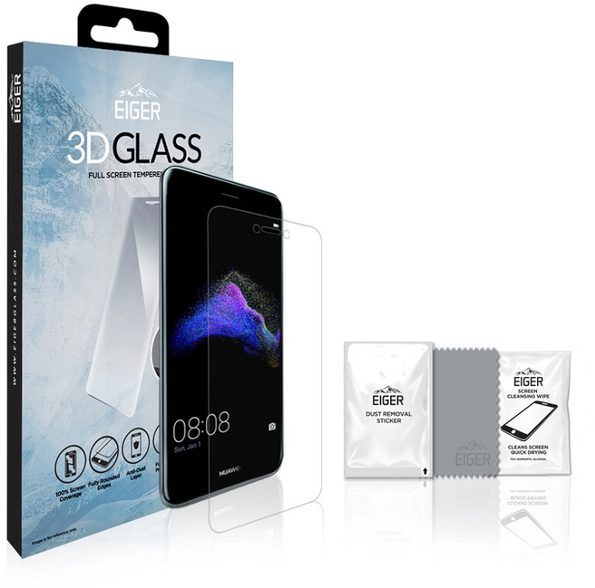 Eiger Curved Tempered Glass voor Huawei P8 Lite / P9 Lite (2017)