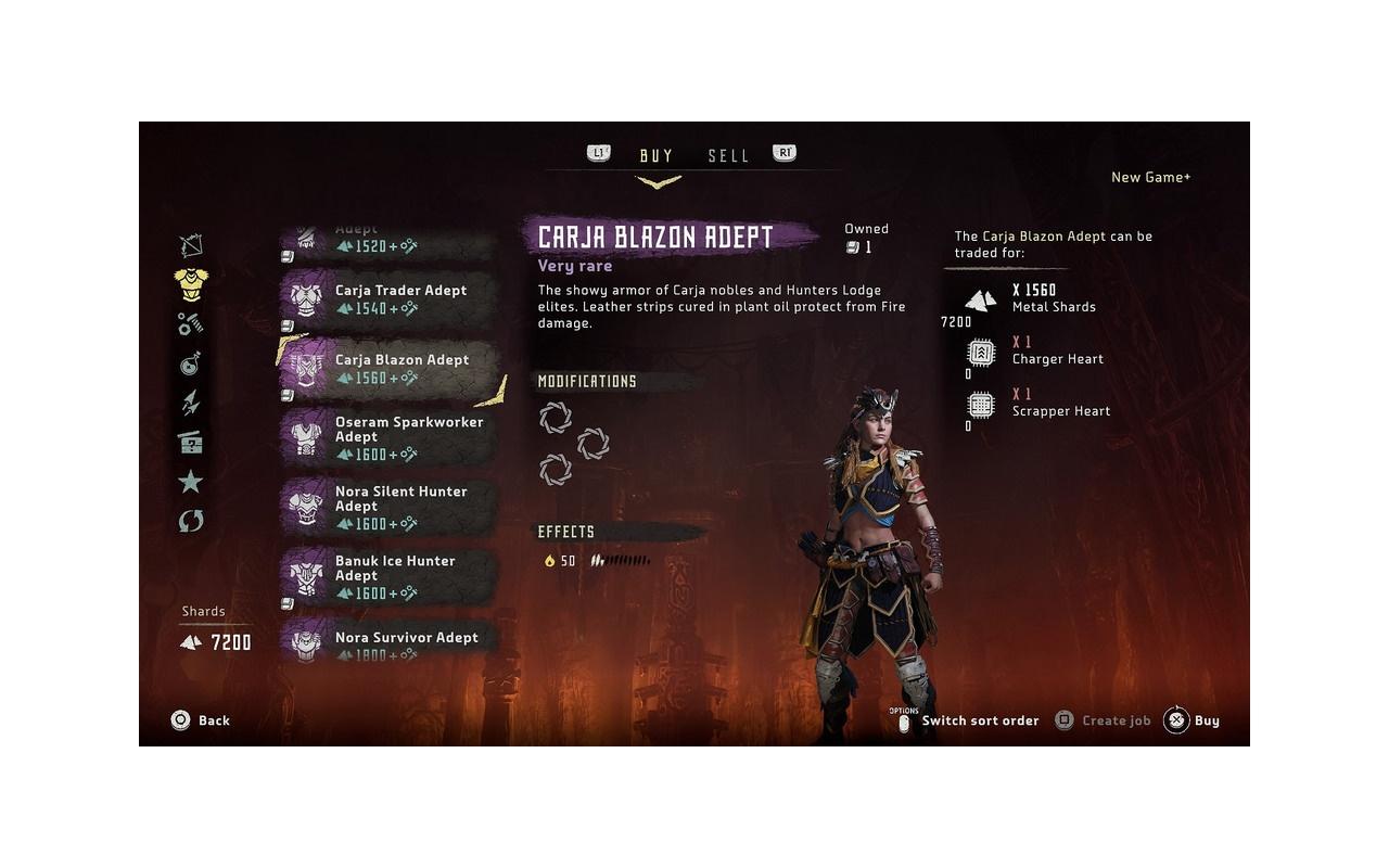 Horizon Zero Dawn New Game+