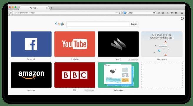 Advertentietegels in Firefox