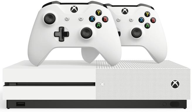 Microsoft Xbox One S 1TB +2 wireless controllers Wit