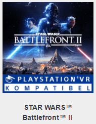 Battlefront II is compatibel met PSVR