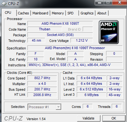 AMD Phenom II X6 Cpu-z-screenshot