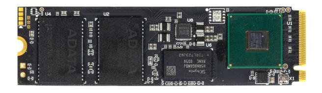 XPG Gammix S70 2TB zonder heatsink - bovenkant