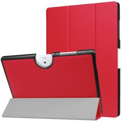 qMust Acer Iconia One 10 B3-A40 Smart Tri-Fold Case - Rood