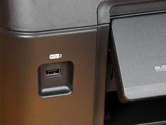 detail USB aansluiting buitenzijde