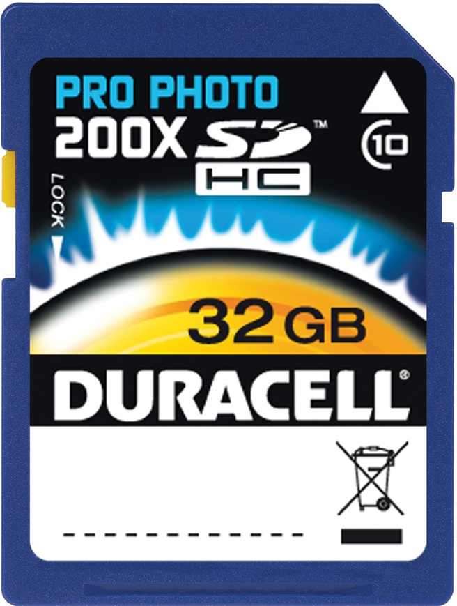 Duracell SDHC Pro Photo Class 10