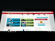 laptopscherm onder