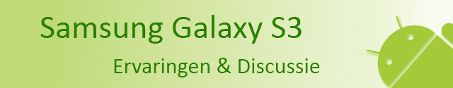 Header Samsung Galaxy SIII: Ervaringen & Discussie