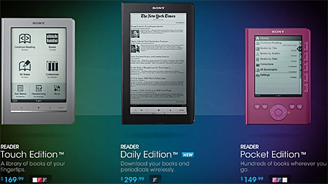E-readers van Sony