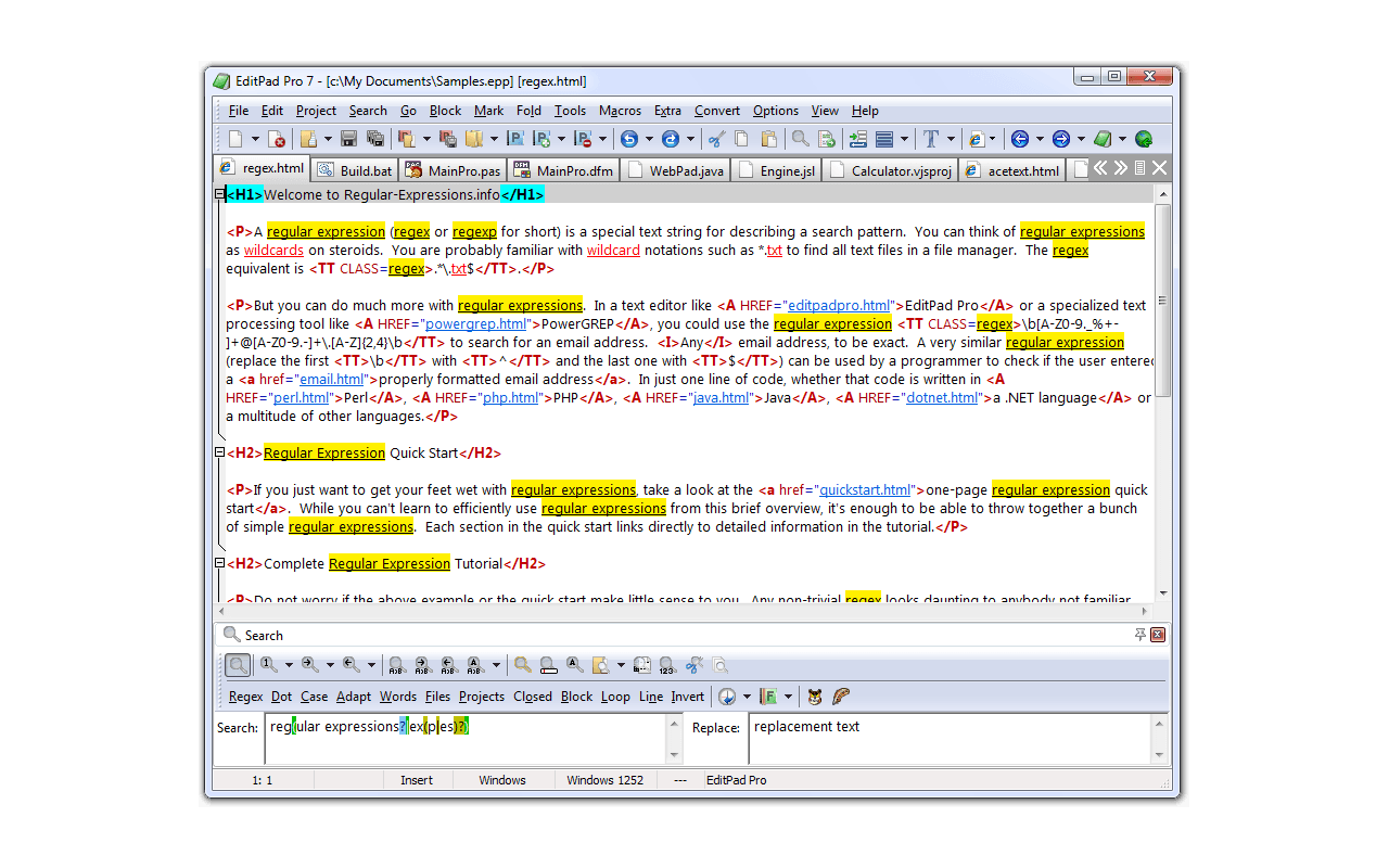 EditPad Pro 7.0.0 screenshot
