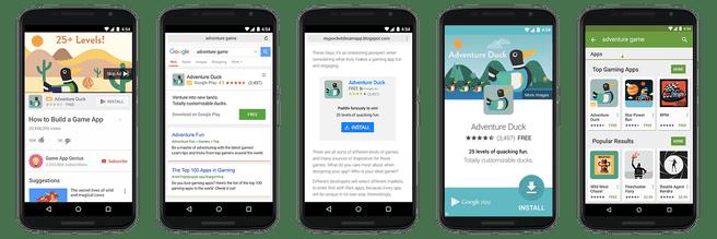 google universal app campaign