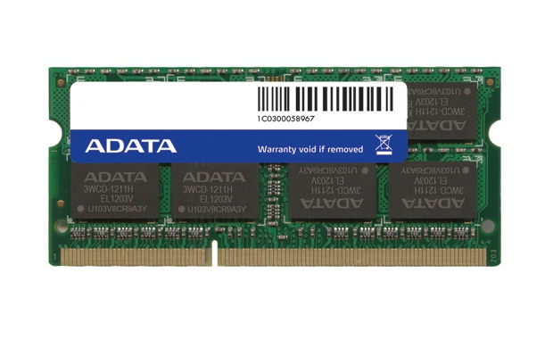Adata DDR3, 1600MHz 204-Pin, SO-DIMM, 4GB