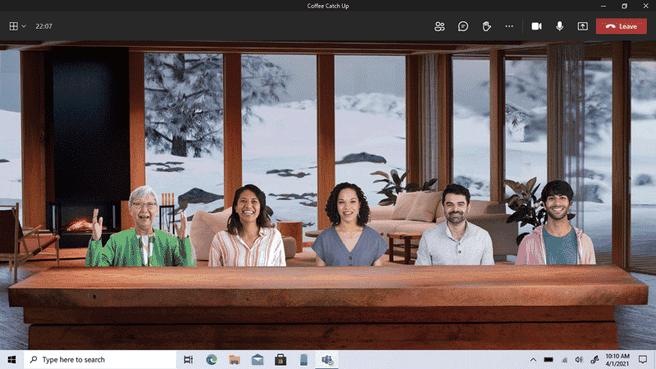 Microsoft Teams Together-modus