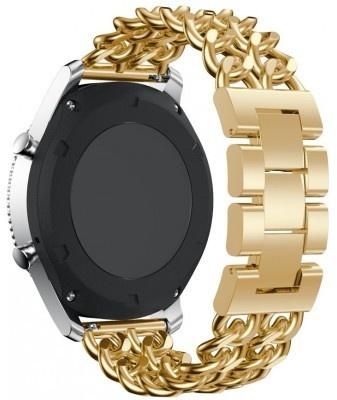 qMust Samsung Gear S3 Armband Double Chain Style - Goud