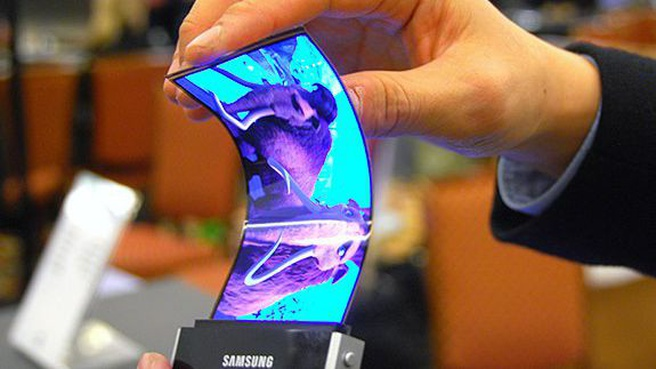 Proto Samsung-telefoon met vouwbaar scherm