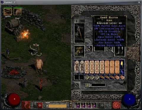 Diablo II screenshot (481 pix)